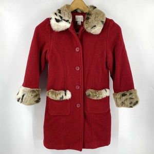 The Childrens Place Dress Coat Girls M (7/8) Red